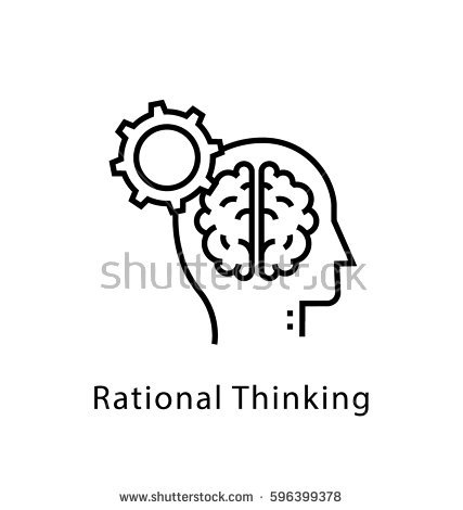 Stock Vector Rational Thinking Vector Line Icon 596399378